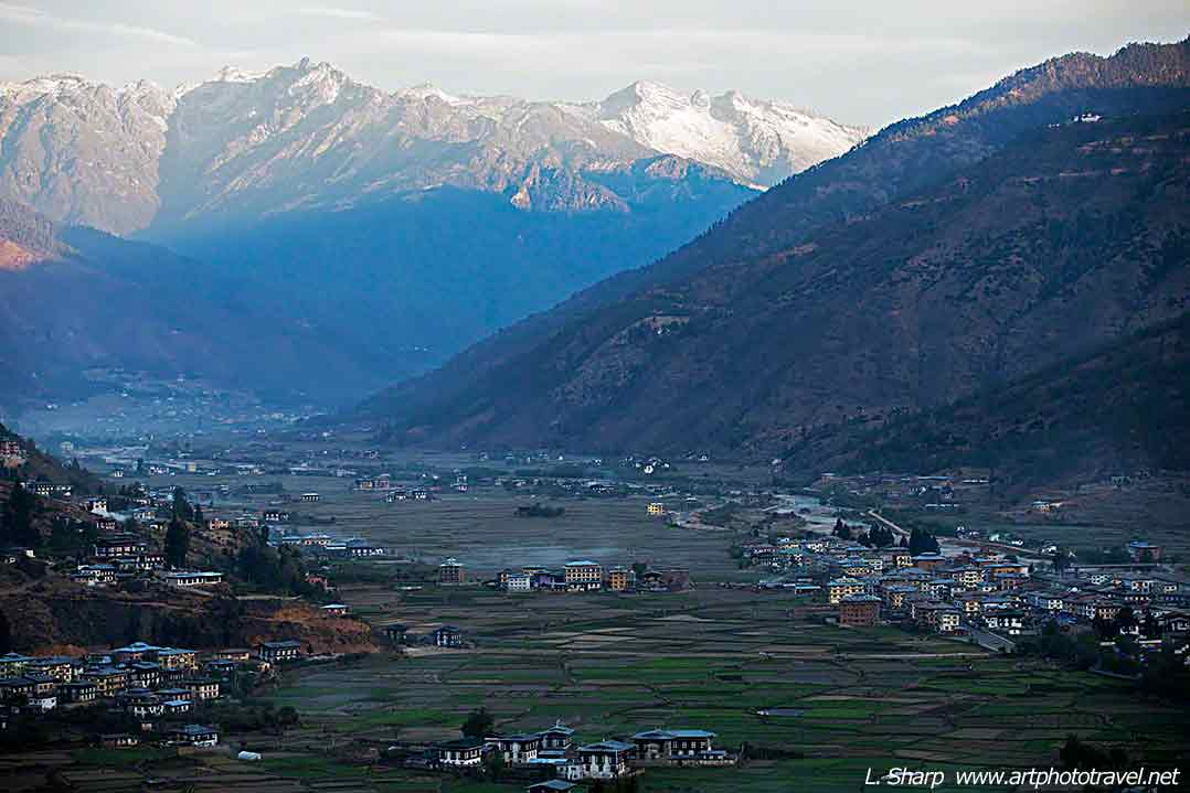 Sunrise over the Paro valley