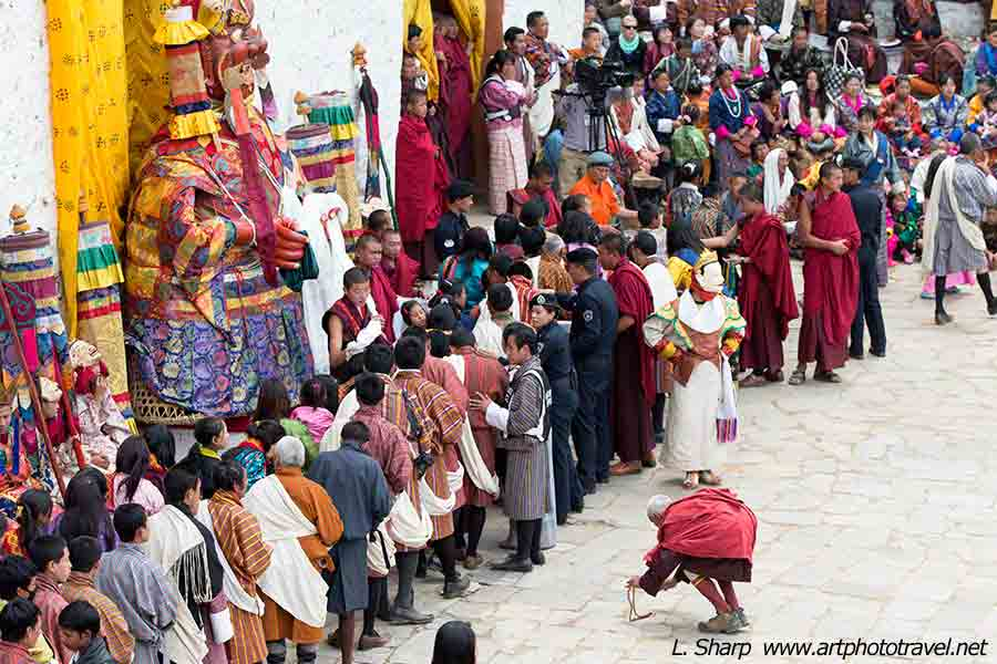 Paro-Tsechu-day-4-blessing-from-the-monks