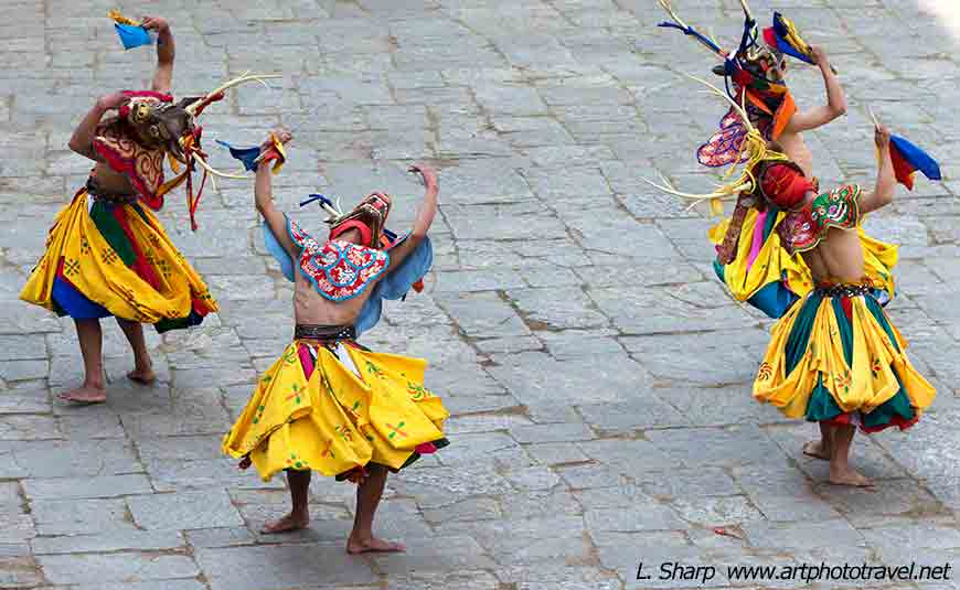 Paro-Tsechu-day-4-dance-of-the-4-stags