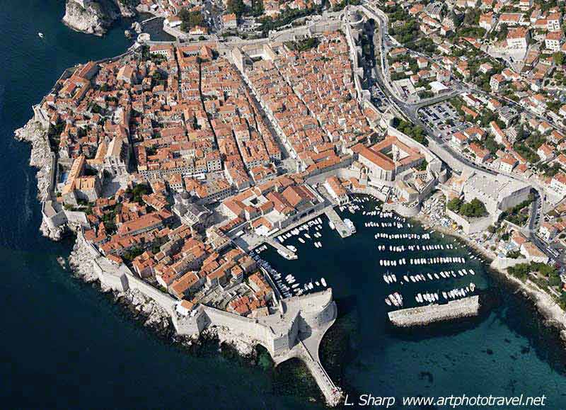 dubrovnik-old town from-air