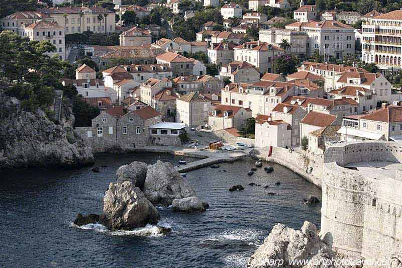 Dubrovnik  old town inlet from the wall