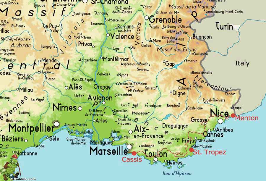 French Riviera map Cassis location