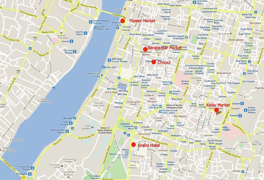 Fig5. Kolkata map. Google