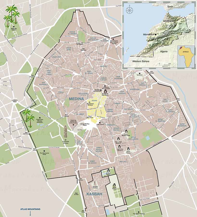 marrakech-tourist-map