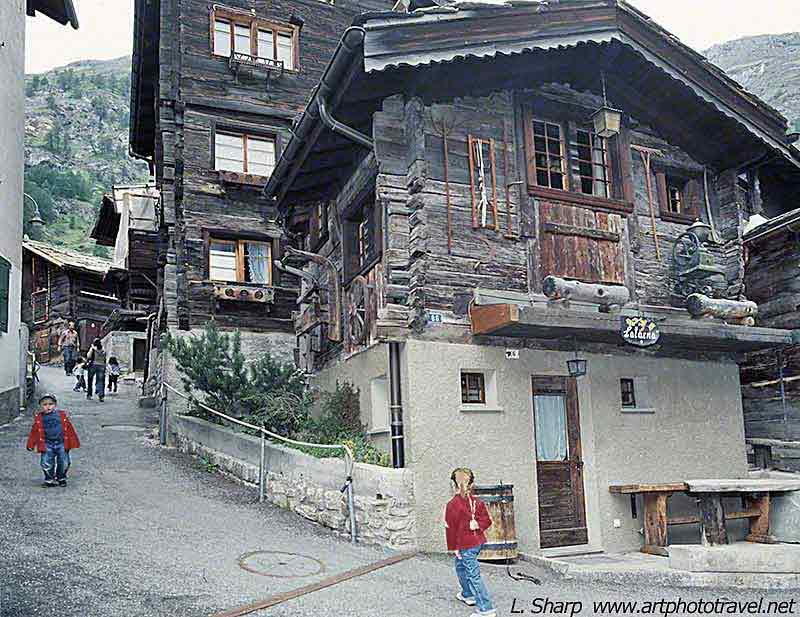Historic-wooden-buildings-Zermatt