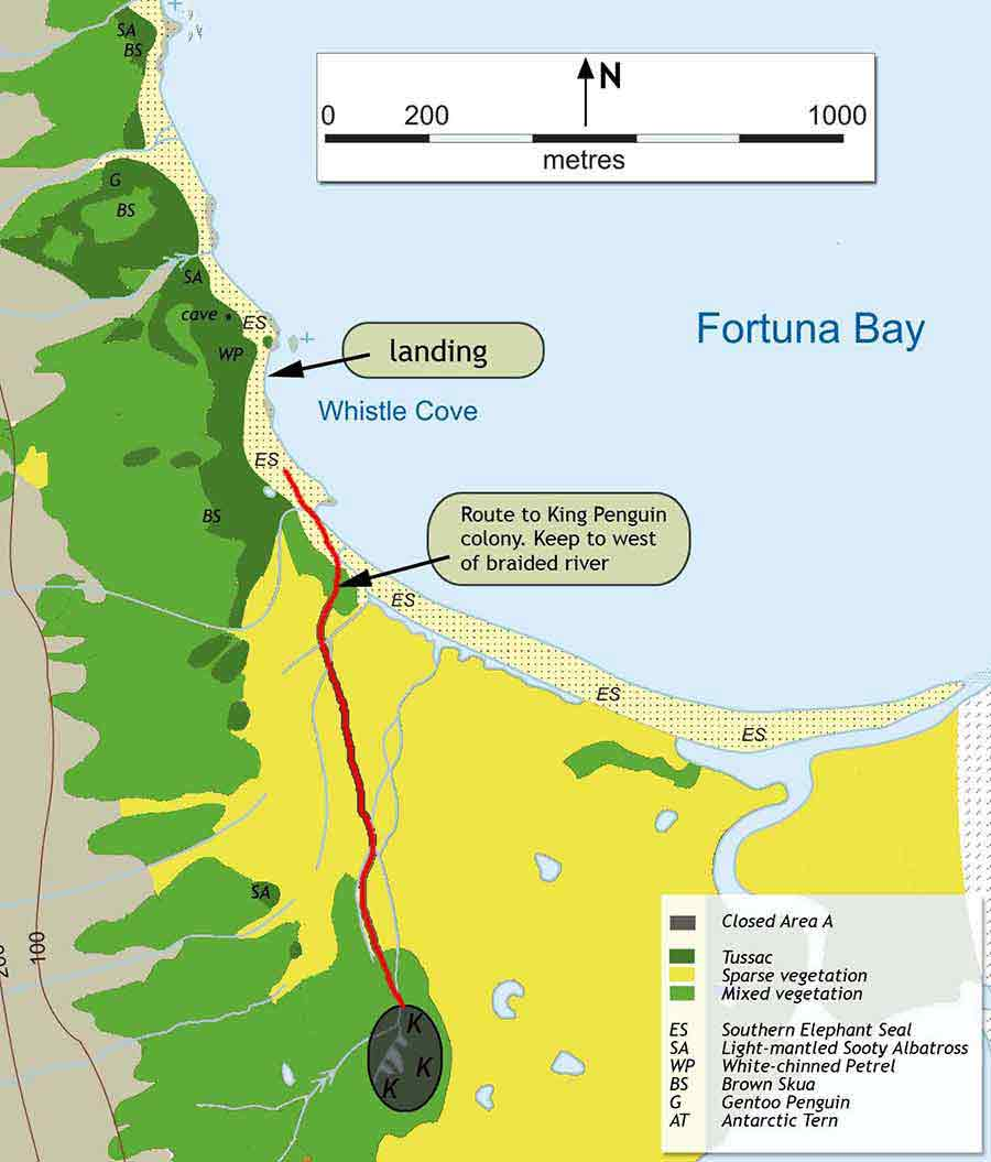 Fortuna bay tourist map