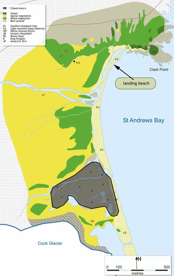 St Andrews Bay tourist map