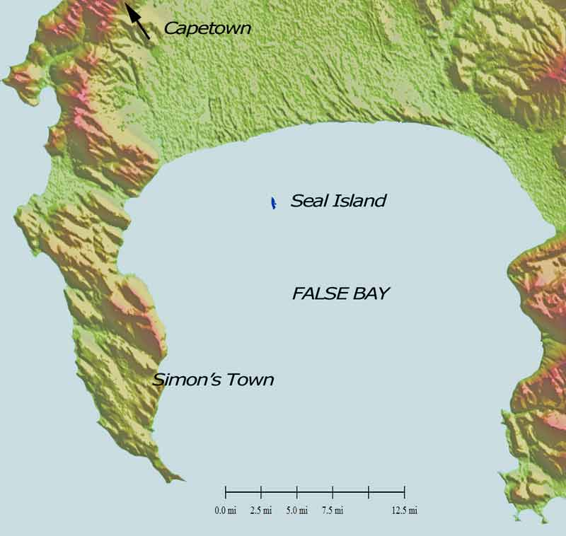 seal island false bay map