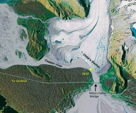 Childs glacier attached to Copper River. Google Earth