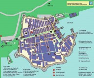 Dubrovnik old town map. Dubrovnik tourist office