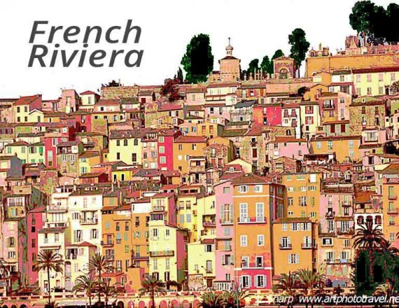 French riviera town of menton