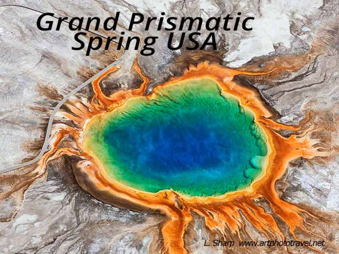 grand prismatic spring yellowstone usa
