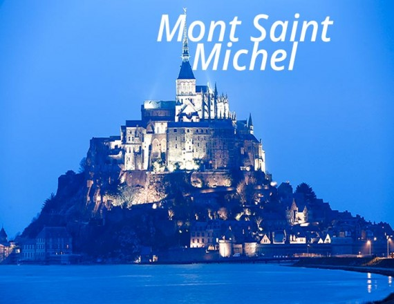 mont saint michel at twilight