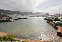 Simon's Town wharf from hotel room