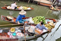 Traders at the floating markets