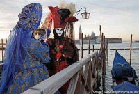 Women with mirror at venice carnival
