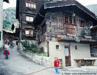 Historic wooden buildings Zermatt