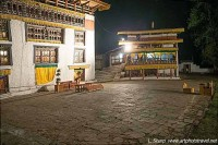 Bhutan Paro Tsechu day 5 ceremonial ground at 1:30am