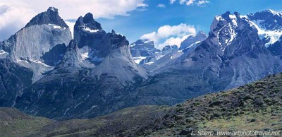The Cuernos massif from the vantage points shown on map.