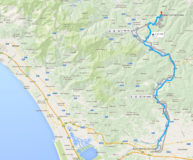 Lucca to Barga route map