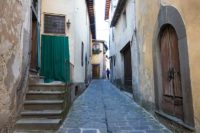 a narrow street in Barga Italy