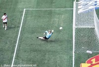 View from our seats. The goal that saved Boca boca vs river plate