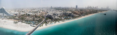 panorama from our suite burj al arab