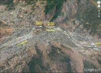 Paro town map. Google earth