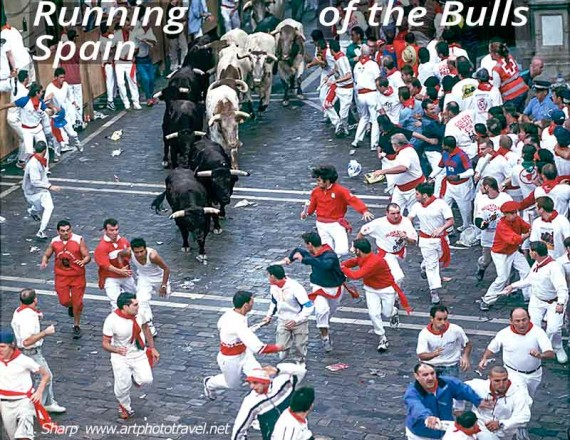 the running of the bulls pamplona spain