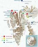 Svalbard cruise highlights map, ngm.nationalgeographic.com
