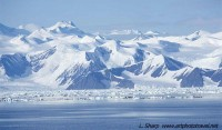 trans-antarctic mountains from Cape Adare.