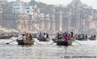 early morning boat ride ganges river varanasi india