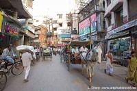 A main street in Varanasi old quarter
