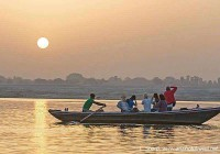 Ganges boat ride at sunrise varanasi india