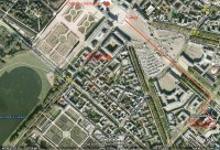Chateau Versailles access map. Google earth