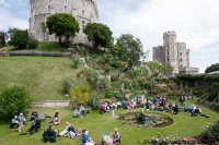 Picnic on the lawn, Windsor Castle.